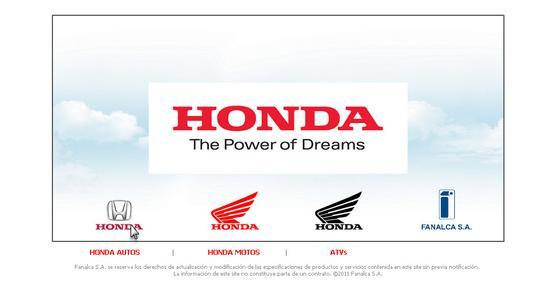Vista de www.honda.com.co | Pagina inicial o Home