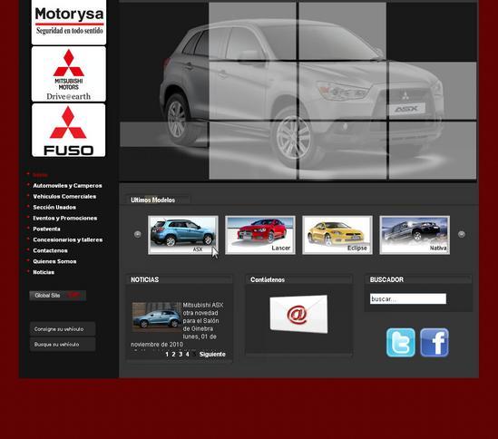 Vista de www.motorysa.com   Pagina inicial o Home