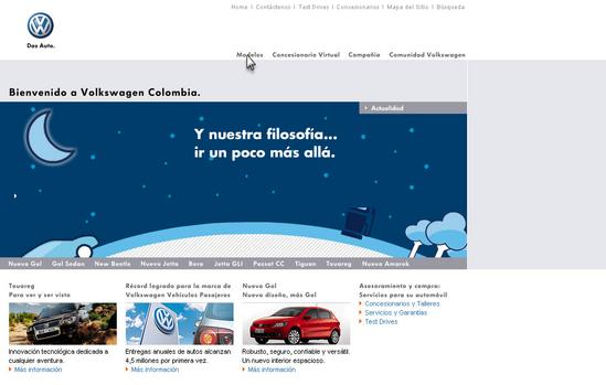 Vista de  www.volkswagen.com.co | Pagina web o Home