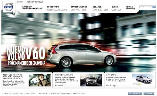 Vista de www.volvocars.com | Pagina principal o Home