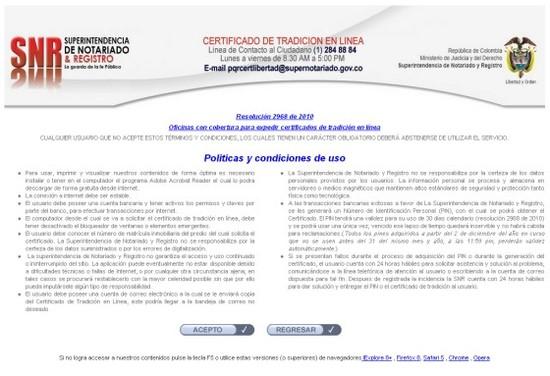 Certificado de Tradición de Inmuebles Online en Colombia