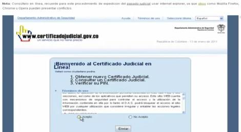 Certificado Judicial