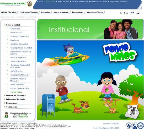 Fondo nacional del ahorro en colombia - sección niños