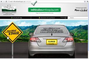 Sitio oficial de Liquidación de Pagos de Impuestos sobre vehículos Antioquia | www.vehiculosantioquia.com