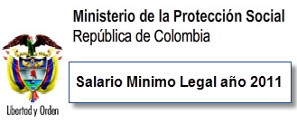 SALARIO MINIMO LEGAL COLOMBIA
