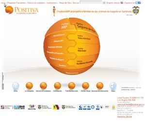 Vista de www.positiva.gov.co | Pagina Web o Home