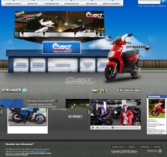 Vista de www.aktmotos.com | Pagina principal o Home