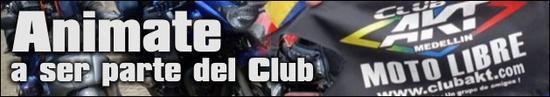 banner de club Akt Motos Medellin