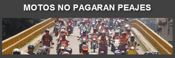 Motos no tendran que pagar peajes