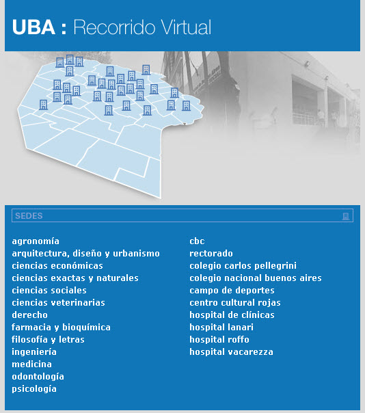 Mapa virtual campus universitario