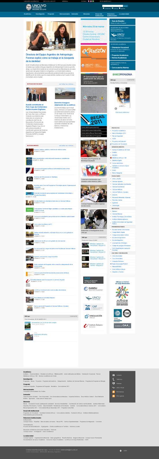 Sitio oficial uncuyo argentina