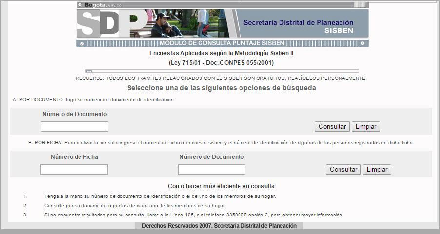 Carnet Del Sisben Puntaje Imprimir Descargar Download