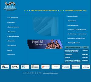 Sitio oficial www.uner.edu.ar en Argentina