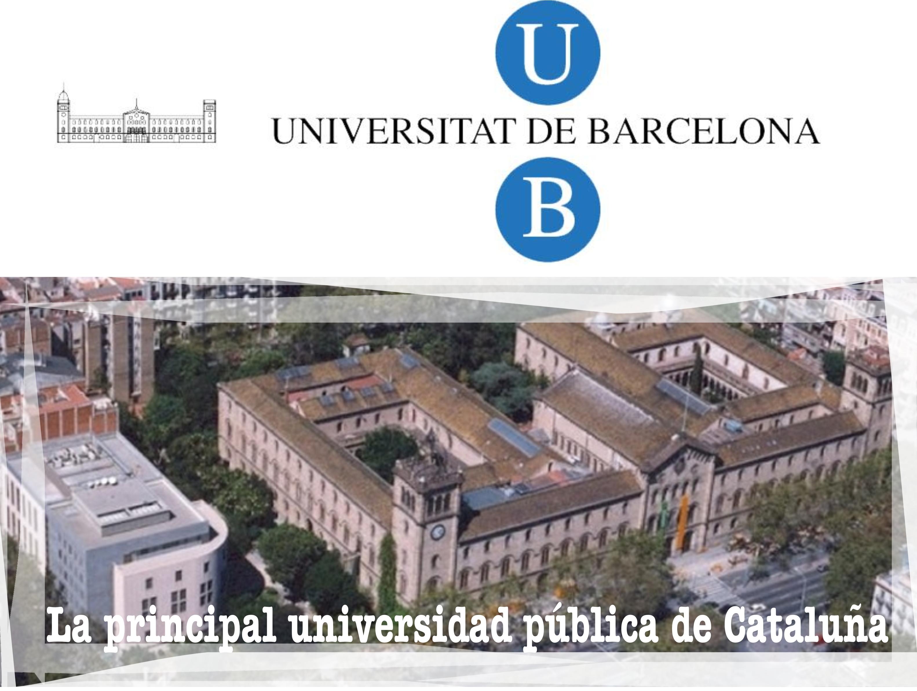Universidad de Barcelona, la principal universidad pública de Cataluña