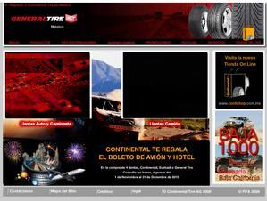 Vista de www.continentaltire.com.mx | Pagina Web o Home