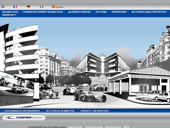 Vista de www.coopertire.es | Pagina Web o Home