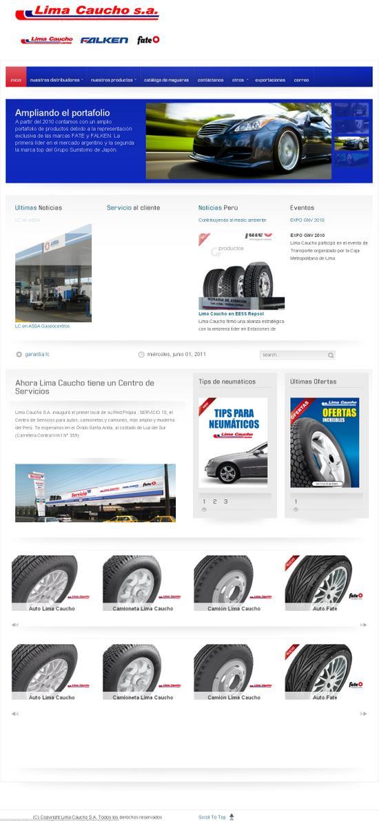 Vista de www.limacaucho.com.pe | Pagina Web o Home