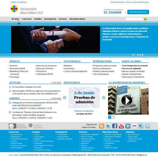 Vista de www.uao.es | Pagina web o Home