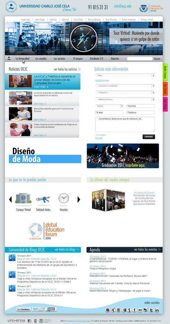 Vista de www.ucjc.edu | Pagina Web o Home