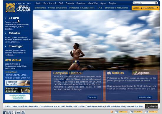 Vista de www.upo.es | Pagina Web o Home
