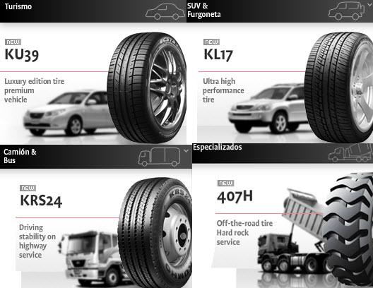 Llantas Kumho Tyres para turismo