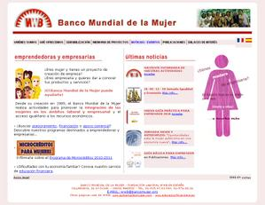 Vista www.bancomujer.org | Pagina Web o Home