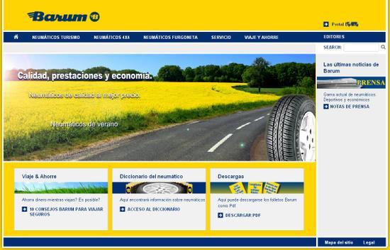 Vista de www.barum-online.com | Pagina Web o Home