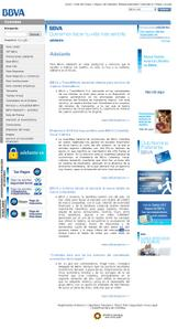 Vista de www.bbva.com.co   Pagina Web o Home