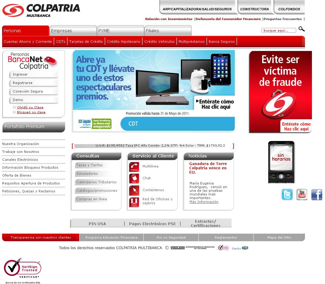Web sitio web for Pagina del banco exterior