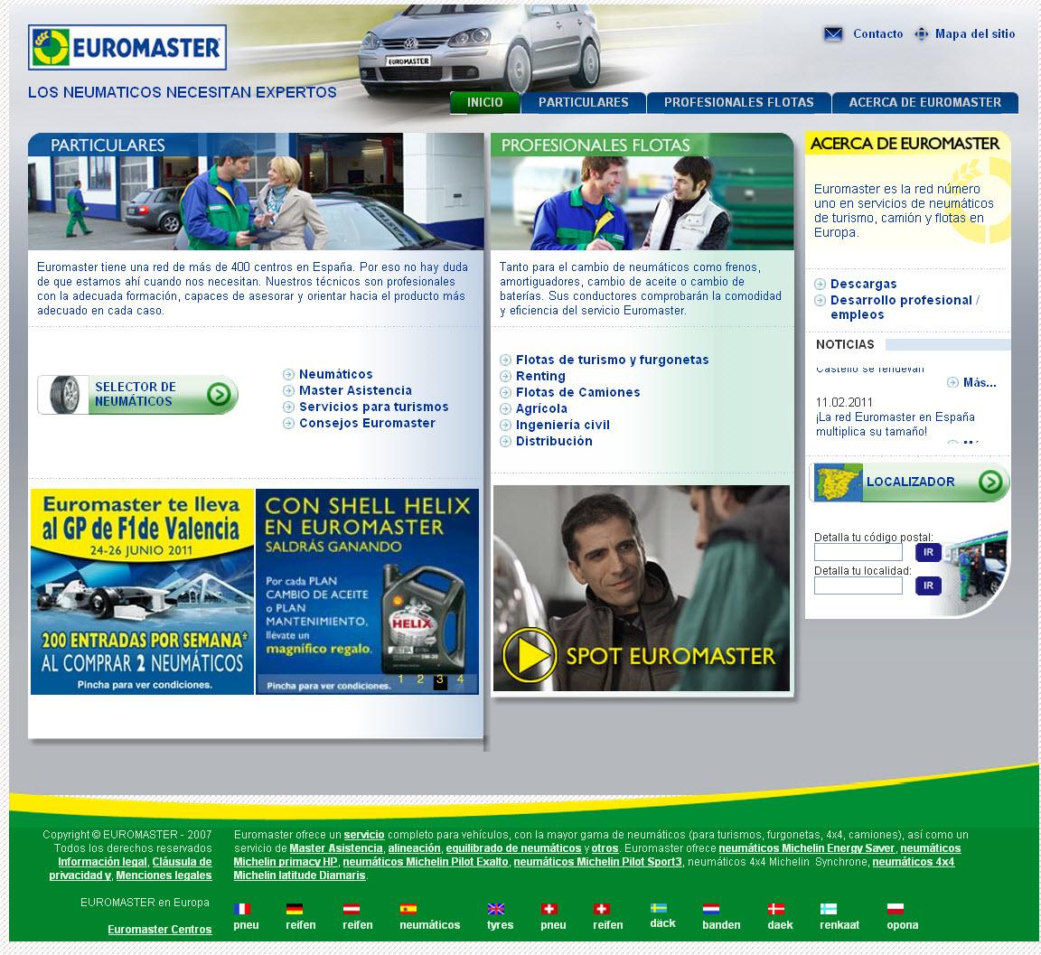 Vista de www.euromaster-neumaticos.es   Pagina Web o Home