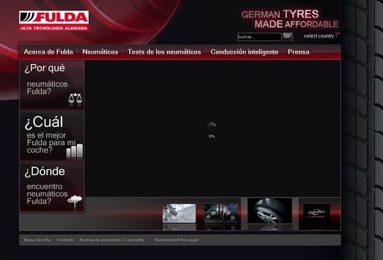 Vista de www.fulda.com | Pagina Web o Home