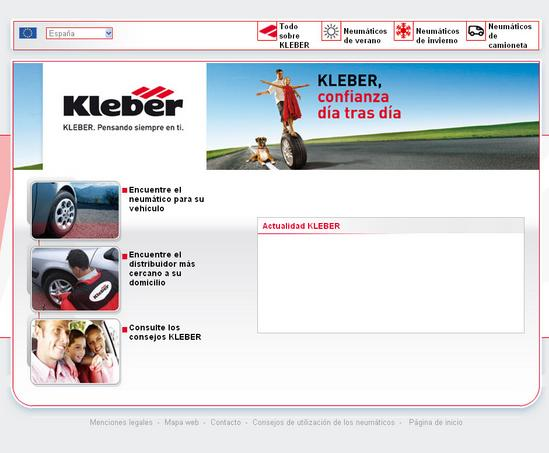 Vista de www.kleber.es | Pagina Web o Home
