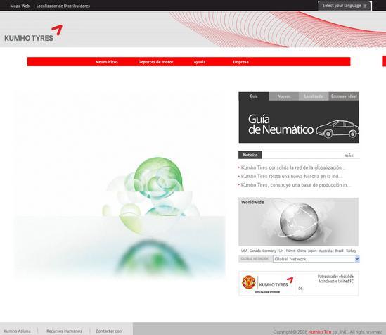 Vista de www.kumhotire.com | Pagina Web o Home