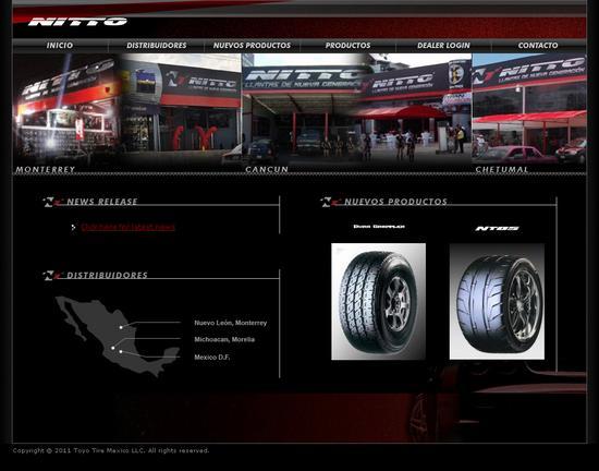 Vista de www.nittotiremexico.com | Pagina Web o Home