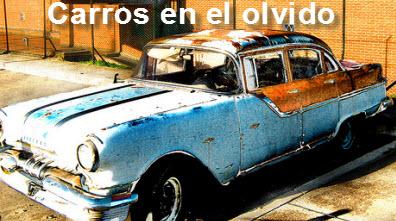Carros abandonados en Bogotá