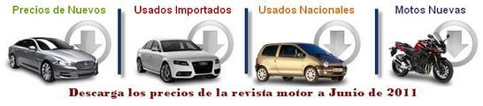 Precios de la revista motor en Colombia para Junio de 2011