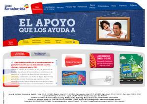 Vista sitio oficial, www.bancolombia.com