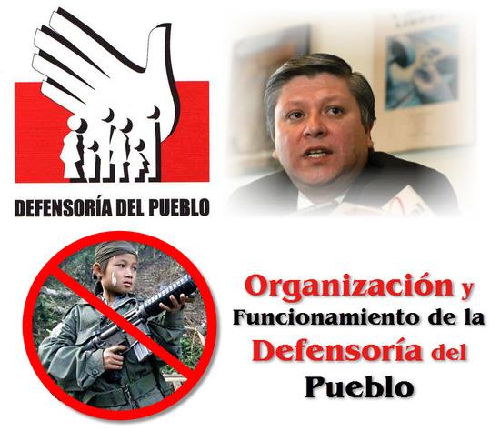Ley 24 de 1992 de Colombia, Organización y Funcionamiento de la Defensoría del Pueblo