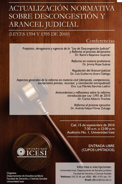 arancel judicial en colombia
