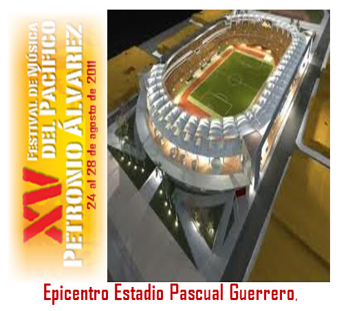 Festival petornio alvarez, epicentro  estadio pascual guerrero
