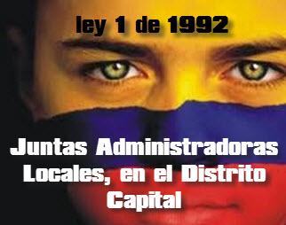 Organización y Funcionamiento de las Juntas Administradoras Locales, en el Distrito Capital