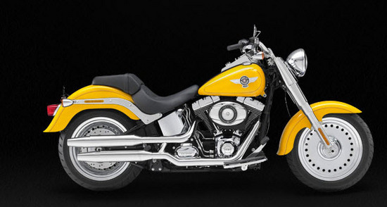 Harley Davidson Softail Fat Boy, amarillo