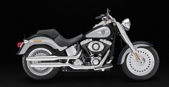Harley Davidson Softail Fat Boy, gris y negro