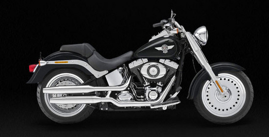 Harley Davidson Softail Fat Boy, negro