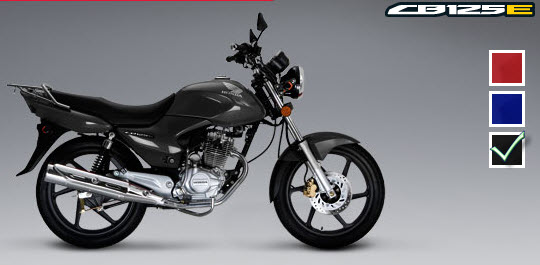 Colores de la Honda CB 125 E, negro