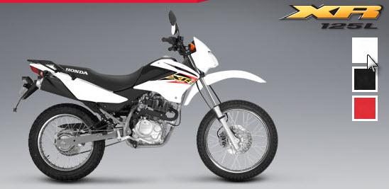 Honda XR 125 L, blanco
