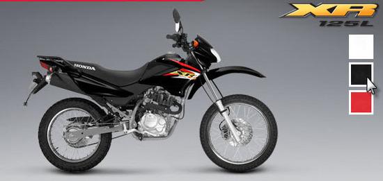 Honda XR 125 L, negro