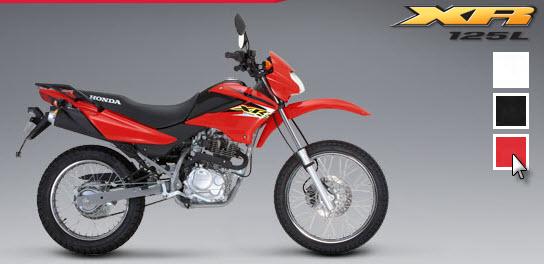 Honda XR 125 L, rojo