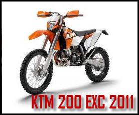 Motocicleta CROSS KTM 200 EXC 2011