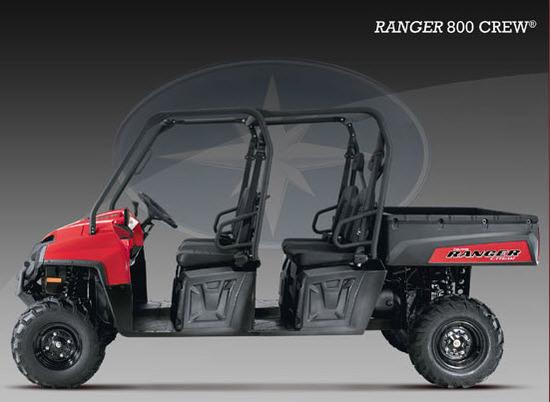 Ranger 800 CREW 2011, Rojo